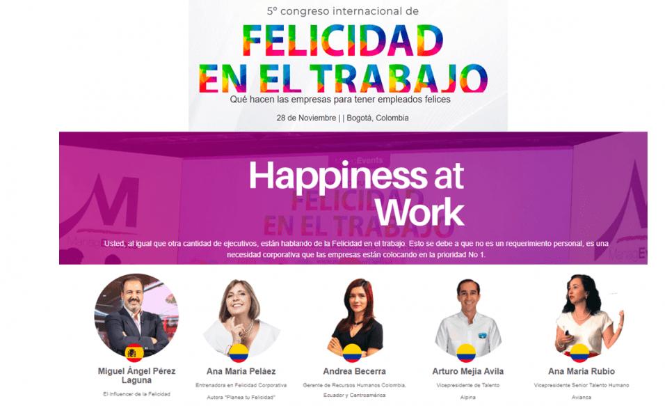 Humanos en la Oficina Miguel Angel Perez Laguna en el Congreso Internaciona de Felicidad Bogota Colombia